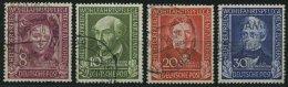 BUNDESREPUBLIK 117-20 O, 1949, Helfer Der Menschheit, Satz Feinst, Mi. 170.-