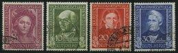 BUNDESREPUBLIK 117-20 O, 1949, Helfer Der Menschheit, üblich Gezähnter Prachtsatz, Mi. 170.-