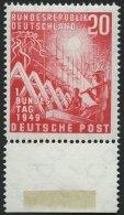 BUNDESREPUBLIK 112 **, 1949, 20 Pf. Bundestag, Pracht, Mi. 55.-