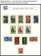SAMMLUNGEN, LOTS **, 1947-59, Bis Auf Urdruck, Blocks Und Dienstmarken Postfrisch Komplett, Prachterhaltung, Mi. 1340.-