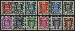 SAARLAND D D 33-44 **, 1949, Wappen, Prachtsatz, Mi. 150.-