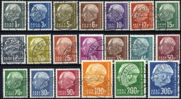 SAARLAND 409-28 O, 1957, Heuß II, Prachtsatz, Mi. 120.-