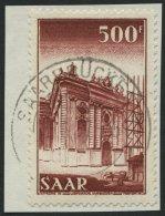 SAARLAND 337 BrfStk, 1953, 500 Fr. Ludwigskirche, Prachtbriefstück, Gepr. Ney, Mi. 80.-