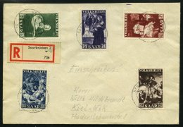 SAARLAND 309-13 BRIEF, 1951, Volkshilfe Auf Satzbrief, Pracht