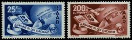 SAARLAND 297/8 **, 1950, Europarat, Pracht, Mi. 220.-
