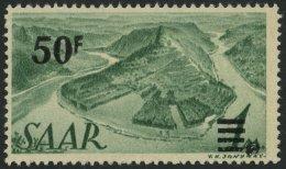SAARLAND 238I **, 1947, 50 Fr. Auf 1 M. Urdruck, Pracht, Signiert, Mi. 200.-