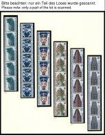 ROLLENMARKEN 793-874R **, 1987-90, Sehenswürdigkeiten Komplett In 5er-Streifen, Pracht, Mi. 275.-