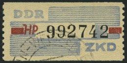 DIENSTMARKEN B D 28HP O, 1959, 10 Pf. Lebhaftgraublau/dunkelbräunlichrot/schwarz, Buchstabe HP, Pracht, Gepr. Weige