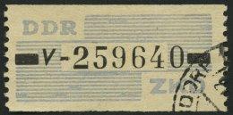 DIENSTMARKEN B D 26V O, 1959, 10 Pf. Lebhaftgraublau/schwarz, Buchstabe V, Pracht, Gepr. Weigelt, Mi. 75.-