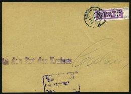 DIENSTMARKEN B D 13 BrfStk, 1957, 70 Pf. Kontroll-Nr. 6000, Vom Rechten Rand Auf Briefteil Aus COTTBUS, Pracht