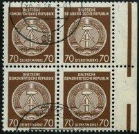 DIENSTMARKEN A D 41PFII O, 1958, 70 Pf. Rötlichbraun, Wz. 3, Mit Abart Linien Im Rechten Fahnenband Gebrochen, Im R