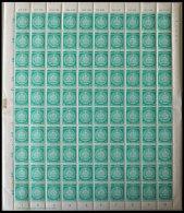 DIENSTMARKEN A D 35-37 **, 1957, 10 - 20 Pf., Wz. 3, In Bogen (100) Mit Verschiedenen Druckerei-Vermerken, 10 Pf. Angetr