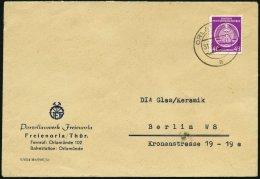 DIENSTMARKEN A D 13 BRIEF, 1954, 48 Pf. Violettpurpur, Einzelfrankatur Auf Brief Nach Berlin, Pracht
