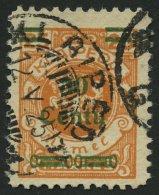 MEMELGEBIET 224PF IX O, 1923, 20 C. Auf 25 M. Lebhaftrötlichorange Mit Aufdruckfehler 3 Von 30 Mit Haken, übli