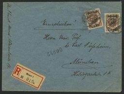 MEMELGEBIET 175 BRIEF, 1923, 30 C. Auf 500 M. Graulila, 2x Als Mehrfachfrankatur Auf Einschreibbrief Nach München,