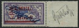 MEMELGEBIET 79 *, 1922, 3 M. Auf 60 C. Dunkelgrauviolett/kobalt Mit Breitem Rechten Rand, Falzrest, Pracht