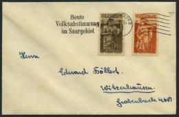 SAARGEBIET 199/200 BRIEF, 1935, 40 Und 60 C. Volksabstimmung Mit Abstimmungsstempel Auf Prachtbrief