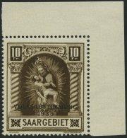 SAARGEBIET 194III **, 1934, 10 Fr. Volksabstimmung Mit Abart Fleck Auf Der 4. Windung Von Unten Auf Der Rechten Säu