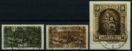 SAARGEBIET 192-94 O,BrfStk , 1934, 3 - 10 Fr. Volksabstimmung, 3 Prachtwerte, Endwert Gepr. Hoffmann BPP, Mi. 127.-