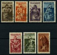 SAARGEBIET 171-77 O, 1934, Volkshilfe, Prachtsatz, Gepr. Hoffmann BPP, Mi. 300.-