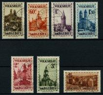 SAARGEBIET 161-67 O, 1932, Volkshilfe, Prachtsatz, Gepr. Hoffmann BPP, Mi. 800.-