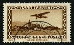 SAARGEBIET 159IV O, 1932, 5 Fr. Flugpost Mit Abart Punkt Im Rechten Rahmen Zwischen Den Beiden Oberen Halbkreisen, Prach