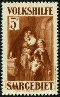 SAARGEBIET 157 **, 1931, 5 Fr. Volkshilfe, Pracht, Mi. 320.-