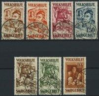 SAARGEBIET 144-50 O, 1931, Volkshilfe, Stempel HANWEILER, Nr. 146 Dünne Stelle Sonst Prachtsatz, Fotoattest Geigle,