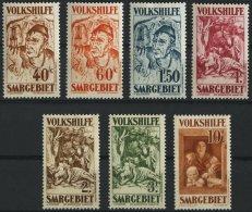 SAARGEBIET 144-50 *, 1931, Volkshilfe, Falzreste, Prachtsatz, Mi. 200.-