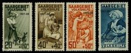 SAARGEBIET 122-25 **, 1927, Volkshilfe, Normale Zähnung, Prachtsatz, Mi. 160.-