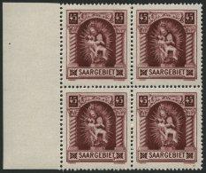 SAARGEBIET 102II **, 1925, 45 C. Madonna Mit Abart Rahmen Unter T Von Saargebiet Nach Oben Gebogen (Feld 45), Im Randvie