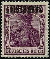 SAARGEBIET 39K **, 1920, 60 Pf. Dunkelgraulila, Kopfstehender Aufdruck, Pracht, Gepr. Burger, Mi. 220.-