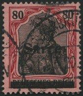 SAARGEBIET 16III O, 1920, 80 Pf. Karminrot/grauschwarz Auf Mittelgraurot, Type III, Pracht, Fotobefund Braun, Mi. 380.-