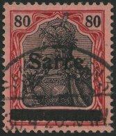 SAARGEBIET 16I O, 1920, 80 Pf. Karminrot/grauschwarz Auf Mittelgraurot, Type I, Pracht, Fotobefund Braun, Mi. 360.-