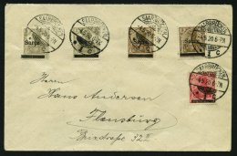 SAARGEBIET 3II BRIEF, 1920, 3 Pf. Dunkelockerbraun, Type II, Mit Zusatzfrankatur (Mi.Nr. 1IA,1IE,3I) Und Fehlerhafter 10