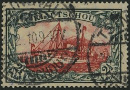 KIAUTSCHOU 37IA O, 1905, 21/2 $ Grünschwarz/dunkelkarmin, Mit Wz., Friedensdruck, Punkthelle Stelle Sonst Pracht, G