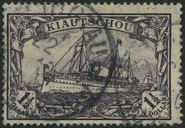 KIAUTSCHOU 36IAa O, 1905, 11/2 $ Schwarzviolett, Mit Wz., Friedensdruck, Feinst, Gepr. Bothe, Mi. 260.-