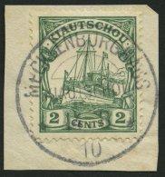 KIAUTSCHOU 29a BrfStk, 1905, 2 C. Grün, Mit Wz., Zentrischer Stempel MECKLENBURGHAUS, Prachtbriefstück