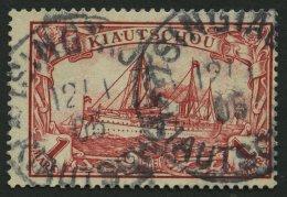 KIAUTSCHOU 14 O, 1901, 1 M. Rot, Etwas Dezentriert, Pracht, Mi. 110.-