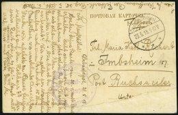 DP TÜRKEI 1918, Feldpoststation SEWASTOPOL Auf Feldpost-Ansichtskarte Von Dem Res.Feld Art.Reg. 68, Feinst (Ecke Un