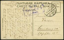 DP TÜRKEI 1918, Feldpoststation SEWASTOPOL Auf Feldpost-Ansichtskarte Von Dem Res.Inf.Rgt.9 1.Batt., Pracht