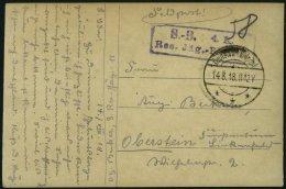 DP TÜRKEI 1918 Feldpoststation DERA`A Auf Feldpost-Ansichtskarte Der 4.Komp.Res.Jäg.Batt 11, Pracht