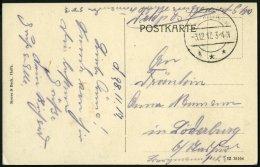 DP TÜRKEI 1917, Feldpoststation DAMASKUS (1 DFP) Auf Feldpost-Ansichtskarte Haifa Deutsche Kolonie, Pracht