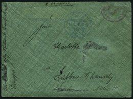 DP TÜRKEI 1916, Feldpost Mil. Miss. MOSSUL In Blau Auf Brief Aus Der Lunser-Korrespondenz (Persien) Mit Briefstempe