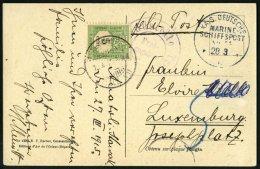 DP TÜRKEI 1915, MSP 14 (Dampfer GENERAL), Feldpost-Ansichtskarte Aus ANATOLI-KAWAK Mit Zensur Von Trier Nach Luxemb