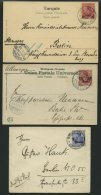 DP TÜRKEI 1902-07, 4 Verschiedene Gebrauchte Belege, Pracht