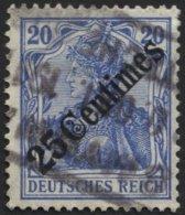 DP TÜRKEI 50 O, 1908, 25 C. Auf 20 Pf. Diagonaler Aufdruck Mit Rosinen-Stempel SMYRNA, Feinst