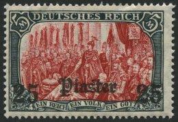 DP TÜRKEI 47b **, 1908, 25 Pia. Auf 5 M., Mit Wz., Karmin Quarzend, Postfrisch, Feinst, Mi. 100.-