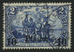 DP TÜRKEI 45 O, 1906, 10 Pia. Auf 2 M., Mit Wz., Pracht, Mi. 60.-