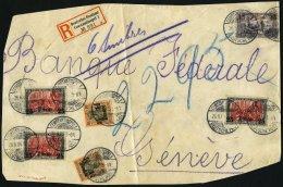 DP TÜRKEI 28,34b,47a BRIEF, 1906, 11/2 Pia. Auf 30 Pf. (2x), 15 Pia. Auf 3 M., Rotorange Quarzend Und 3x 25 Pia. Au